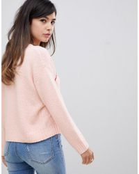 ASOS - Pink Amour Sweater In Eco Yarn - Lyst