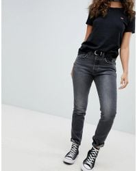 Levi's 501 Skinny Jeans In Washed Black
