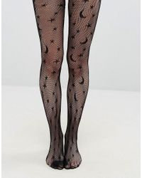 Leg Avenue - Black Halloween Celestial Net Tights - Lyst