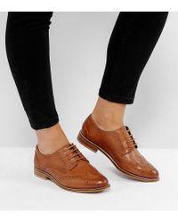 MOJITO - Chaussures richelieu en cuir pointure large ASOS en coloris Brown