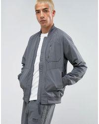 Adidas Originals Gray Nmd Urban Track Bomber Jacket In Grey Bs2515 for men