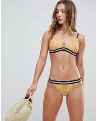 Maison Scotch Multicolor Striped Triangle Bikini Top
