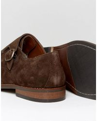 Dune - Brigadier Monk Shoes In Brown for Men - Lyst