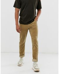 Weekday Natural Sunday Tapered Cord Chinos for men