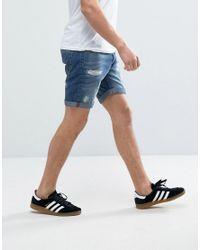 Produkt - Blue Denim Shorts With Distressing for Men - Lyst