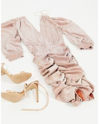 Платье Мини С Блестками Цвета Розового Золота -золотистый AX Paris, цвет: Metallic