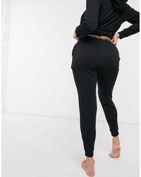 Черные Джоггеры Для Дома С Логотипом Ck One-черный Calvin Klein, цвет: Black