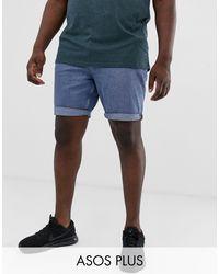 Shorts vaqueros en azul medio y corte slim ASOS de hombre de color Blue