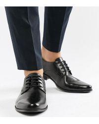 Черные Туфли Дерби Для Широкой Стопы Из Искусственной Кожи ASOS для него, цвет: Black