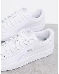PUMA – Court Breaker – Derby-Sneaker in White für Herren