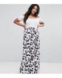 Club L - Multicolor Plus Scuba Prom Maxi Skirt - Lyst