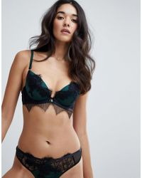 Ann Summers Green Forest Lace Thong