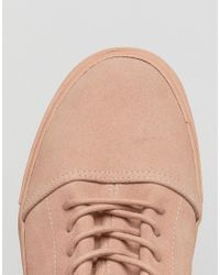 ASOS - Lace Up Sneakers In Pink Suede for Men - Lyst