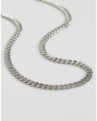 ASOS - Metallic Design Midweight Chain In Silver - Lyst