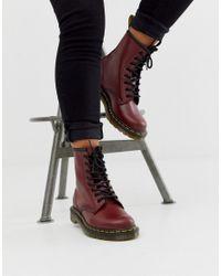 Кожаные Ботинки Вишневого Цвета С 8 Парами Люверсов 1460-красный Dr. Martens, цвет: Red