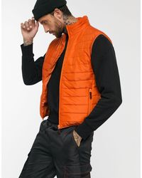 Liquor N Poker Orange Padded Vest for men