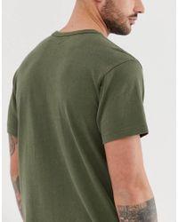 Mighty - T-shirt oliva scuro con logo su nastro di Levi's in Green da Uomo