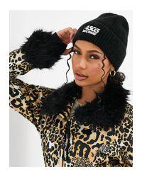 Лыжная Шапка-бини Из Пушистой Пряжи -черный ASOS 4505, цвет: Black