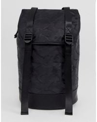 ASOS Backpack In Black Camo With Double Straps for men
