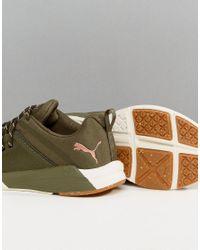PUMA - Green Pulse Ignite Xt Sneakers In Khaki - Lyst