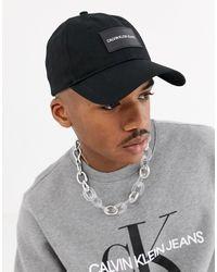 Institutional - Cappellino nero con logo applicato di Calvin Klein in Black da Uomo