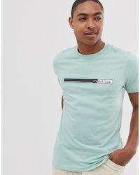 PS by Paul Smith Minzgrnes T-Shirt mit Blockstreifen in schlanker Passform in Green für Herren