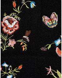 ASOS DESIGN - Black Asos Embroidery Beanie - Lyst