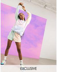 Шорты В Стиле Колор Блок С Логотипом Металлик -мульти Nike, цвет: Purple