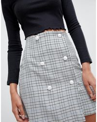ASOS Multicolor Asos Design Tall Double Breasted Mini Skirt