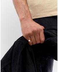 ASOS - Metallic Design Ring In Gold for Men - Lyst
