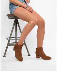 H by Hudson Brown Leather Ankle Boots