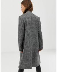 AllSaints Gray Paityn Check Coat
