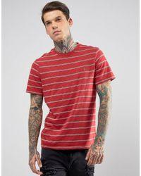 Farah Red Stripe T-shirt for men