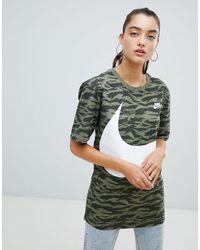 Nike Green Nike – Vaporwave – Bedrucktes T-Shirt