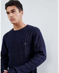 Jersey de ochos 100% algodón con logo French Connection de hombre de color Blue