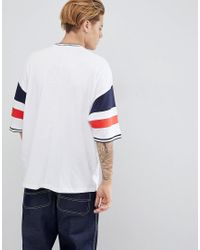 ASOS White Oversized T-shirt With Color Blocking for men
