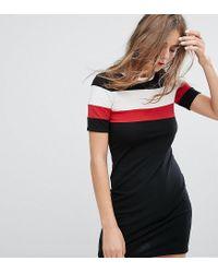 Monki Black Stripe Print T-shirt Dress