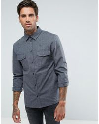 Another Influence - Gray Heavyweight Brushed Overshirt for Men - Lyst