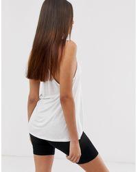 Camisola con sisas caídas en blanco ASOS de color White