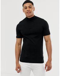 Camiseta ajustada ASOS de hombre de color Black
