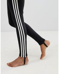 Adidas Originals Originals Adicolor Three Stripe Stirrup Jumpsuit In Black
