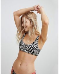 Billabong Multicolor Reversible Crop Bikini Top
