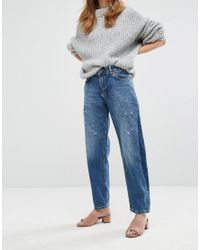 Pull&Bear - Blue Relaxed Cropped Jean - Lyst