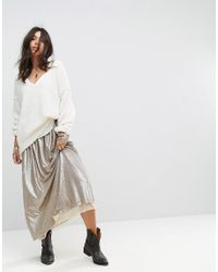 Free People - Metallic Flashing Lights Sequin Maxi Skirt - Lyst