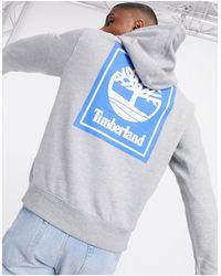 Timberland Gray Stack Logo Hoody for men