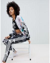 Adidas Originals Blue Originals X Farm Multi Print Leggings