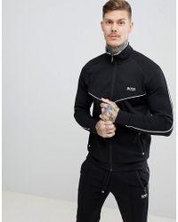 BOSS - Black Bodywear Track Jacket for Men - Lyst