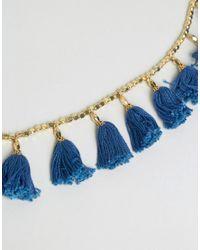 Glamorous - Blue Tassel Festival Belt - Lyst