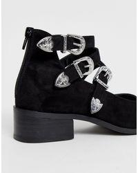 ASOS Black – Mae – Flache Western-Schuhe