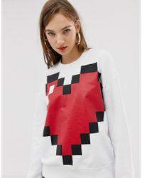 Свитшот Love Moschino, цвет: Red